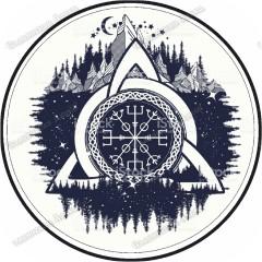 Скандинавская наклейка «Воин Трёх Миров»