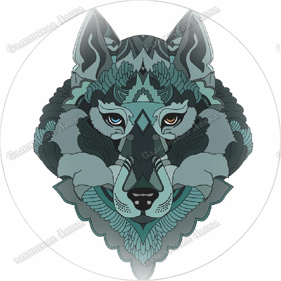 Славянская наклейка «Тотем Волка»