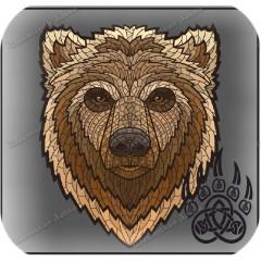 Славянская наклейка «Тотем Медведя»