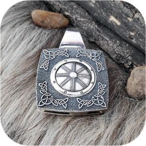 Богатырский серебряный оберег «Колесо Сварога»