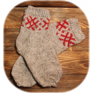 Носки со славянским узором