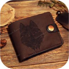 Кожаное портмоне «Тотем Волка»
