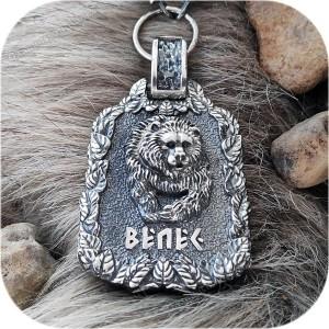 Богатырский серебряный оберег «Велес»