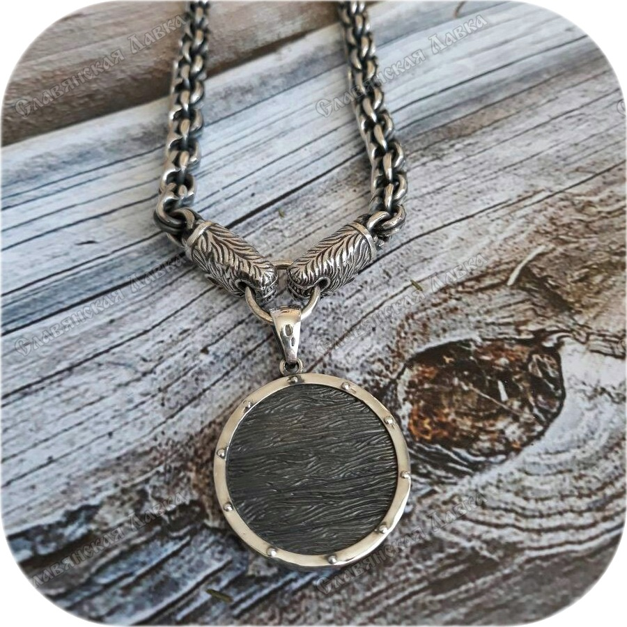 Кулон из серебра «Щит» (Коловрат)