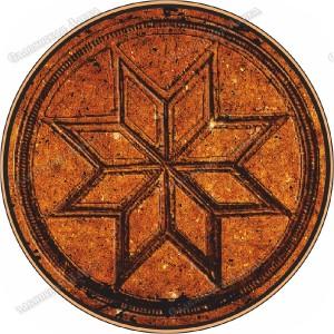 Славянская наклейка «Крест Сварога»