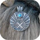 Большой женский кулон «Макошь в Луннице» с камнем