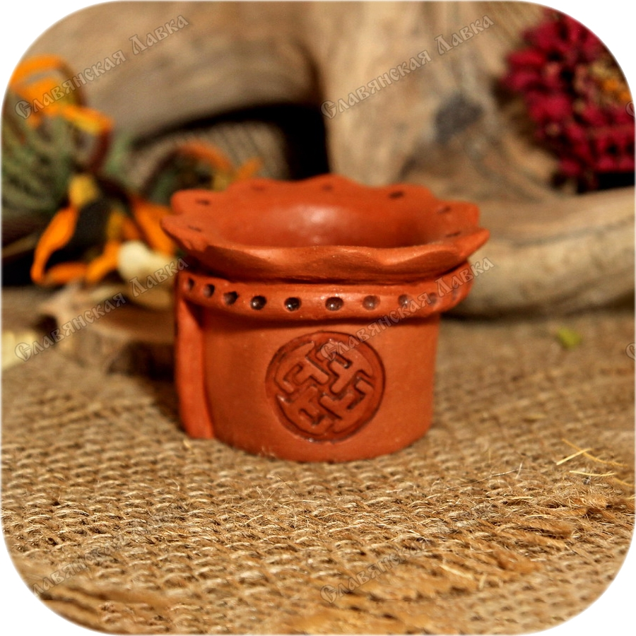 Солонка керамическая с символом