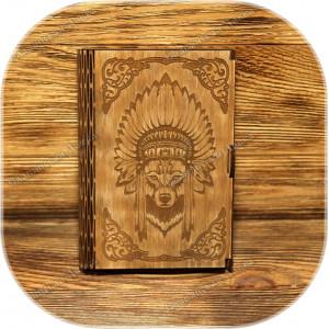 Берёзовая шкатулка «Книга-Тотем»