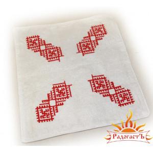 Платок с вышивкой «Цветок папоротника»