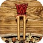 Заколка-вилка «Аленький Цветочек»