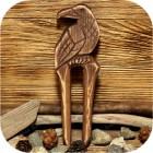 Заколка-вилка «Ворон»