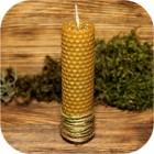 Свеча из вощины «Мята»