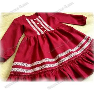 Платье девичье детское «Льняное»