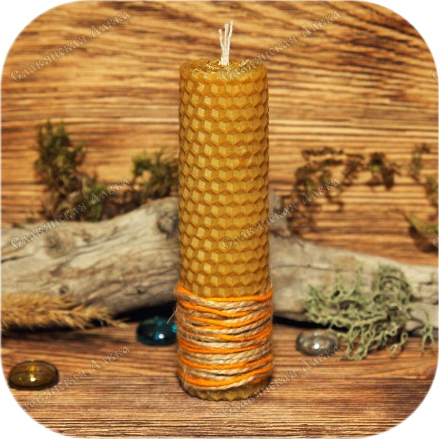 Свеча из вощины «Ромашка»