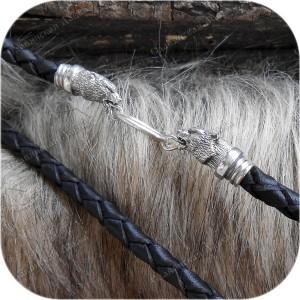 Шнур кожаный с оконцовками из серебра «Чертог»