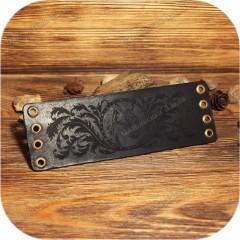 Кожаный браслет «Тотем Рыси»