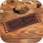 Кожаный браслет «Тотем Медведя»