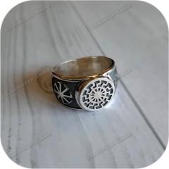 Серебряный перстень «Чёрное Солнце»