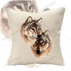 Подушка «Пара волков»