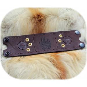Кожаный браслет «Печать Велеса - Медведь»