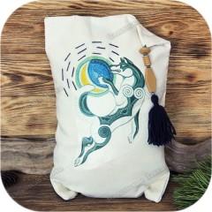 Подушка с кедровыми опилками «Волк»