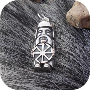 Большой серебряный кулон «Кумир»