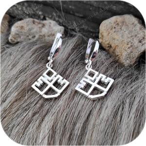 Серьги серебряные «Лельник» (застежка/швензы)