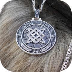 Двусторонний кулон из серебра «Хвала Богам»