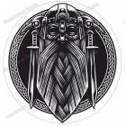 Скандинавская наклейка «Викинг»