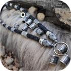Шнур кожаный с оконцовками из серебра «Руна»