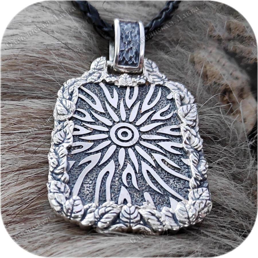 Богатырский серебряный оберег «Крышень»