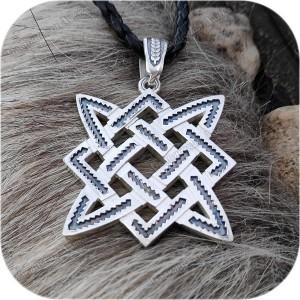 Кулон из серебра «Квадрат Сварога» (4.5)