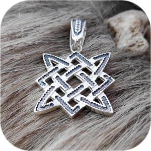 Кулон из серебра «Квадрат Сварога» малый