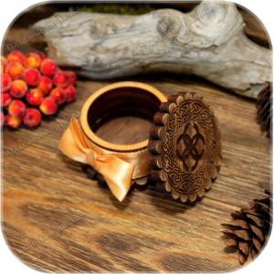 Кедровая шкатулка круглая «Любомир»