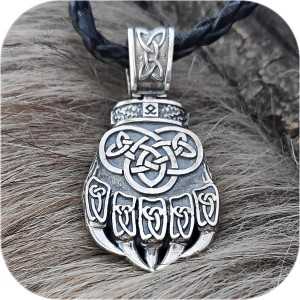 Богатырский серебряный оберег «Медвежья Лапа»