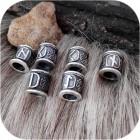 Кольцо для бороды со скандинавской руной (на выбор)