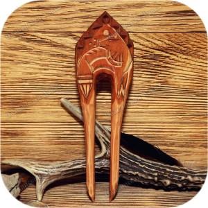Заколка-вилка «Лисица»