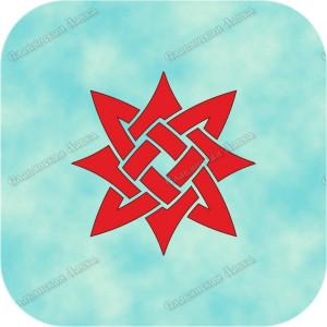 Наклейка прорезная «Звезда Лады»