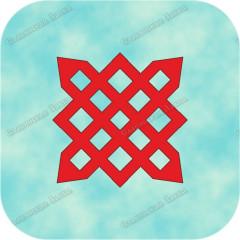Наклейка прорезная «Символ Даждьбога»
