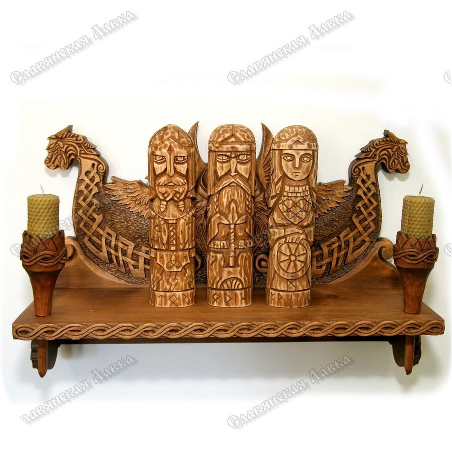 Скандинавская полка для идолов «Один-Всеотец»