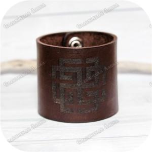 Кожаный браслет «Сварожич»
