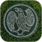 Обрядовый бубен с изображением ворона