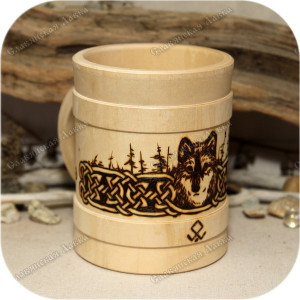 Сувенирная кружка «Волк»