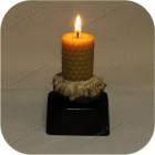 Подсвечник из рога лося со свечой