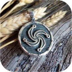 Кулон из серебра «Щит» (Символ Рода)