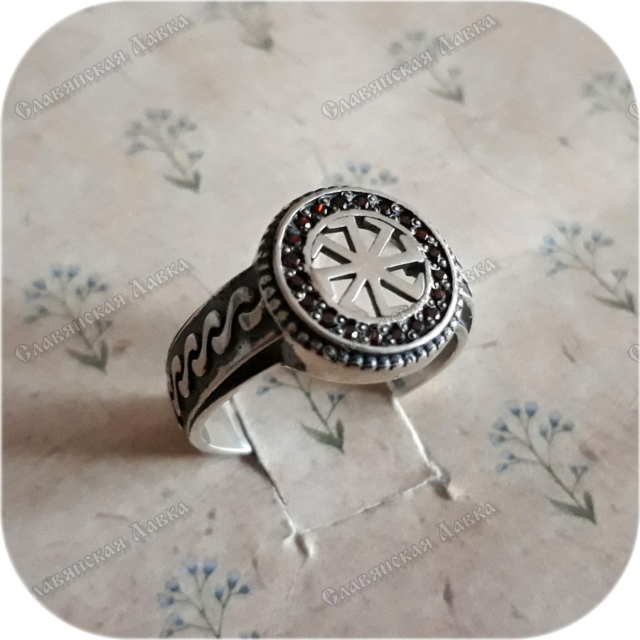 Серебряное кольцо «Коловрат» с фианитами