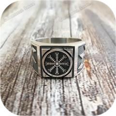 Серебряный перстень «Агисхьялм»