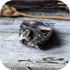 Серебряное кольцо «Молот Тора»