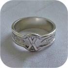 Серебряное кольцо с руной «Гебо»