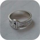 Серебряное кольцо с руной «Хагалаз»